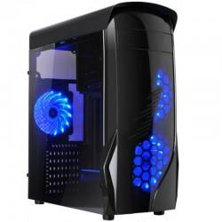 CAJA GAMING KRON NEGRA L-LINK  LED AZUL USB 3.0 SIN FUENTE