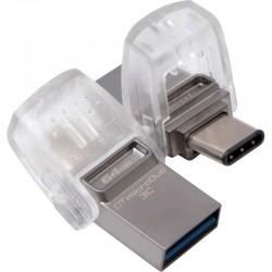 MEMORIA USB 3.1  64GB KINGSTON  MICRODUO 3C TRASPARENTE