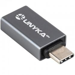 CONVERSOR TYPE-C MACHO A USB   3.0 HEMBRA NEGRO