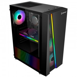 CAJA GAMING ATX GLAYZE BLACK   USB 3.0 RGB SIN FUENTE
