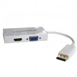 ADAPT. DISPLAY PORT A HDMI-DVI VGA 2K 4K Y VGA 1080P BLANCO