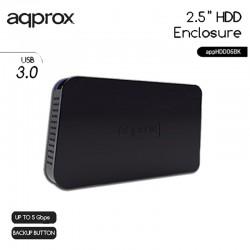 CAJA 2.5 USB 3.0 APPROX NEGRA 12.5mm ENCLOSURE APPHDD06BK