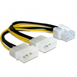 CABLE ADAPTADOR MOLEX A 8 PINS  PARA VGA's