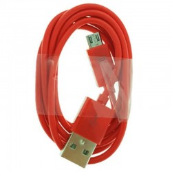 CABLE MICRO USB  1M A USB 2.0A  ROJO