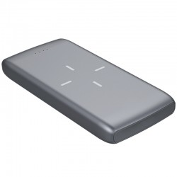 POWERBANK 10000 MAH 2.1A 3.7V  1X USB 1X TYPE-C NEGRO