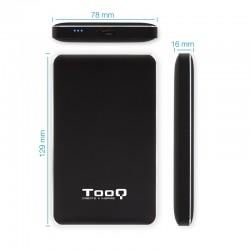 CAJA 2.5 USB 3.1 GEN1 TOOQ    TIPO A + ADAPT TYPE C NEGRO