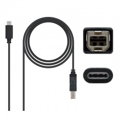 CABLE TYPE C - TIPO 3A IMPRESO RA USB 2.0  1.0 M