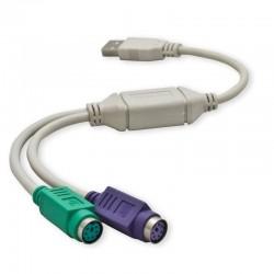 CONVERSOR 1 USB A 2 PS2