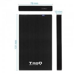 CAJA 2.5 USB 3.0 TOOQ TQE-252 7B 9.5MM SATA NEGRO