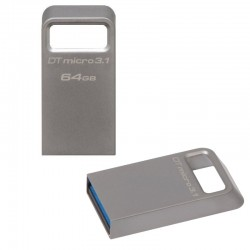 MEMORIA USB 3.1  64GB KINGSTON  ALUMINIO MICRO