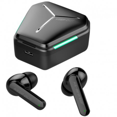 AURI. + MIC KEEP OUT BT HX-AVE NGER GAMING IN EAR NEGROS