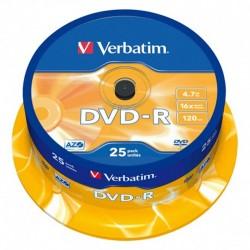 DVD VERBATIM 25 UNDS 16X 4.7GB  -R