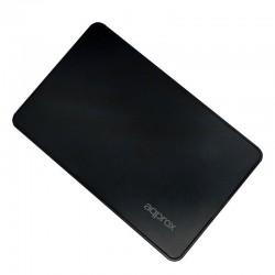 CAJA 2.5 USB 2.0 APPROX NEGRA  9.5mm ENCLOSURE HASTA 2TB