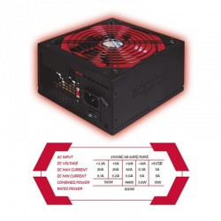 FUENTE 800W/62A 85% APPROX APP 800PSV2 GAMING